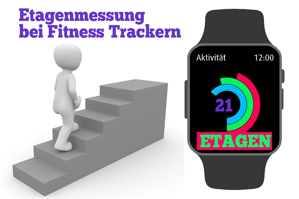 Illustration Etagenmessung beim Fitness Tracker