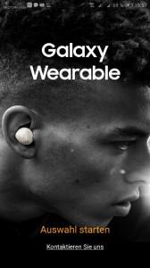 Samsung Galaxy Wearable App Screen