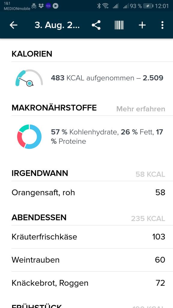 Fitbit App Nährstoffe