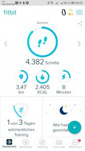 Fitbit App Startseite