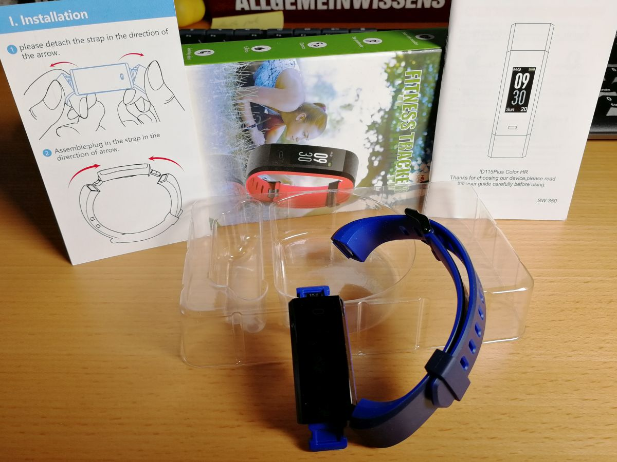 Lieferumfang des Yamay Fitness Tracker
